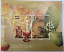 2019 INDIA MINIATURE SHEET - INDIAN PERFUMES SANDALWOOD SCENTED STAMPS MNH