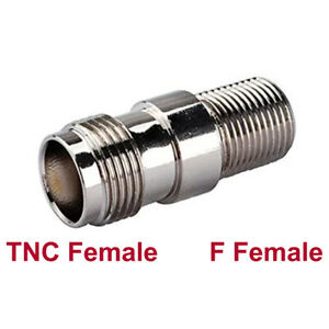 TNC Female Jack to F Female Straight Coax Cable RF Connector Converter Adapter