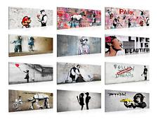 Wandbilder Banksy XXL - Street Art Graffiti - Wohnzimmer Flur - Bilder 100x40 cm