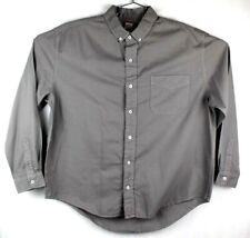 fresh produce shirt mens medium long sleeve button front cotton gray