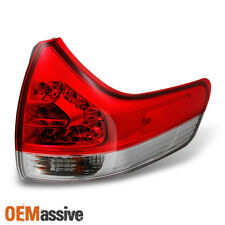 Fits 2011-2014 Toyota Sienna Red Outer Pc LED Taillight Passenger Right Side
