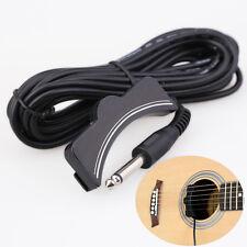 Classical Acoustic Guitar Amplifier Soundhole Pickup 6.3mm Jack 5M Cable Black