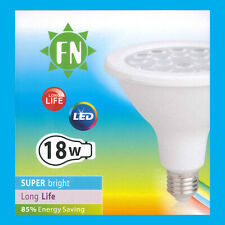 18W PAR38 LED Flood Reflector ES E27 Light Bulb Lamp, 6500K Cool White
