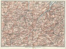Carta geografica antica MARCHE Savio Marecchia Montefeltro TCI 1924 Antique map