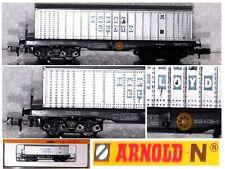 ARNOLD VINTAGE 0495 CARRO MERCI TRASPORTO CONTAINER HAPAC-LOOYD DB  BOX SCALA-N