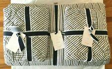Pottery Barn Emily & Meritt Ticking Stripe Patchwork Quilt Queen & 2 Std Shams