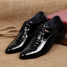 Luxury Mens Formal Dress Shoes Genuine Leather Pointy Toe Wedding Oxfords Shoes