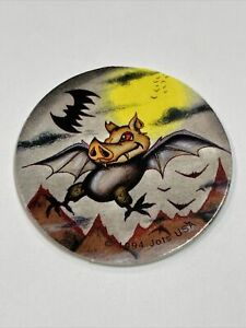 Flying PigBat Milk Cap - Vintage Jots USA Pogs - Blue Back - 1994 Pog Pig Bat