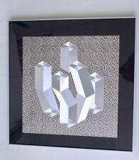Imagen op-art 60 er 70 er 80 él estilo Victor Vasarely enmarcado