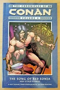Chronicles of Conan Vol 4: Song of Red Sonja (Dark Horse trade paperback / TPB)