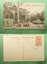 DR WHO BELGIUM CONGO PICTORIAL POSTAL CARD IREBU  g39093