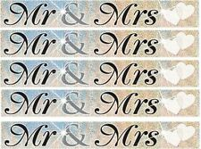 Mr & Mrs Wedding Party White & Silver Foil Banner Partyware Decoration 12ft