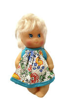"""Vintage 1994 Baby Sister Mini 4.5"""" Doll Cititoy Blonde Blue Dress"""