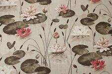 Edinburgh Weavers Treasure Natural Printed Linen//viscose Fabric By The Metre