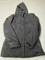 Womens NAU Black Recycled Polyester Hooded Insulated Jacket Sz L