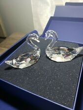 Swarovski Crystal Flirting Swans- Mint In Box