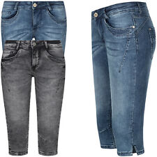 Sublevel Jeans Caprijeans Damen Shorts 3/4 Capri Hose Jeansshort Caprihose OM197