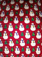 Tie Fashion Neckwear Snowmen Christmas Trees Multi Colored 57.5 Length
