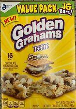 NEW GENERAL MILLS GOLDEN GRAHAMS TREATS S'MORES VALUE PACK 16.96 OZ BOX 16 BARS