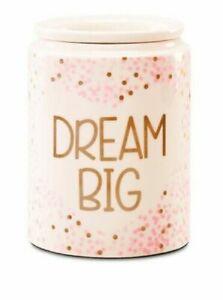 "NICE CIB Scentsy ""DREAM BIG ""💕 SPARKLE Wax Warmer  PINK / Gold Glitter ✨"