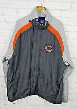 Reebok Chicago Bears 2 Piece Fleece Windbreaker Jacket Sz Large Gray Embroidered