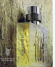 """PUBLICITE ADVERTISING 064 1990 NINO CERRUTI """"1881"""" eau de toilette"""