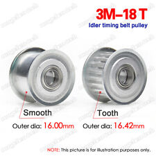 3M18T Idler Pulley 3/4/5/6mm Bore Synchronous Wheel W/Bearing for 10/15mm Belt