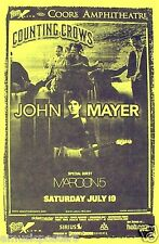 COUNTING CROWS / JOHN MAYER / MAROON 5 2003 SAN DIEGO CONCERT TOUR POSTER