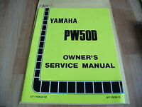 Yamaha PW50D 11626-07-93 Owner's Service Manual
