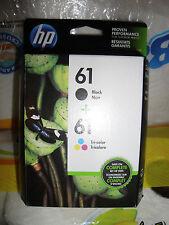 GENUINE ORIGINAL 2 pack HP 61 Black & Color Ink Cartridges CH561WN CH562WN 2019