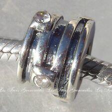 Biagi Bead Sterling Silver 4 RIngs 2 CZ Designer Fashion Charm Jewelry BSC261C