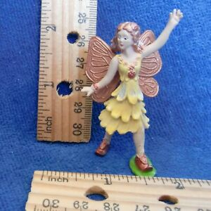 Safari Winged Fairy Fantasies Toob Figurine OK Yellow Copper Sparkle 2 inch