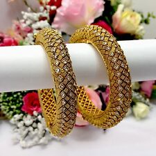 Indian Polki Bangles Size:2.4 Bollywood Asian Pakistani Bridal Wedding Jewellery