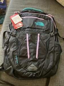 North Face Recon Womens Backpack Brand New With Tags. Black Lavender Teal