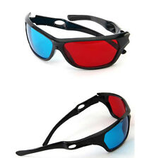 5x Black Frame Red Blue 3D Glasses For Dimensional Anaglyph Movie Game DVD UK