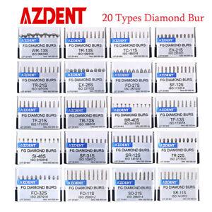 200pcs Dental Diamond Burs Drills for High Speed Handpiece AZDENT