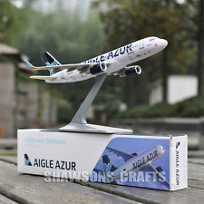 1:200 PLANE MODEL AIRBUS A320 AVEC SHARKLETS AIGLE AZUR AIRLINER REPLICA