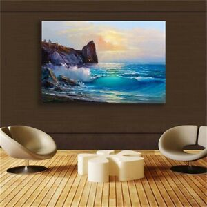 Sandy Beach Canvas painting HD Print Wall Art living room Home Decor
