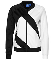 Adidas Originals Women's EQT SST Superstar Zip Track Jacket Black White Medium