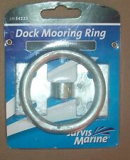 Four X Galvanized Steel Mooring Rings 50mm X 10mm - Galvanized Steel