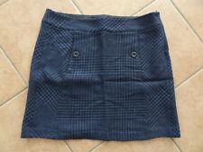 Damen Mini Rock Esprit 38 M Top Qualität kariert Karo blau schwarz Wolle Viskose