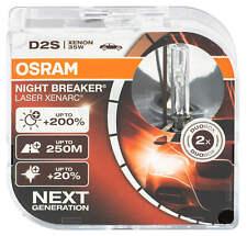 2x d2s OSRAM NIGHT BREAKER láser xenón lámpara peras faros Xenarc