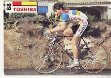 CYCLISME  carte cycliste PIERANGELO BINCOLETTO équipe TOSHIBA 1988
