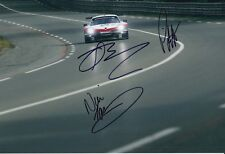 Pilet, Tandy, Bamber Hand Signed Porsche 911 12x8 Photo 2018 Le Mans 2.