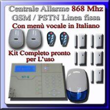 Kit allarme ibrido antifurto 868 Mhz completo di 7 sensori + sirena