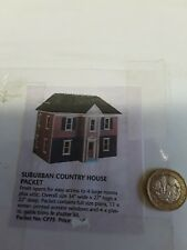 12th SCALE DOLLS HOUSE PLAN TO MAKE A SUBURBAN COUNTRY DOLLSHOUSE