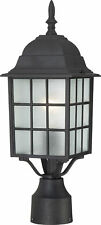 """Nuvo Adams 1 Light 17"""" Outdoor Post with Frosted Glass"""