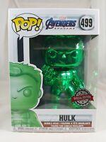 Marvel Funko Pop - Hulk (Green Chrome) -  Avengers Endgame - No. 499