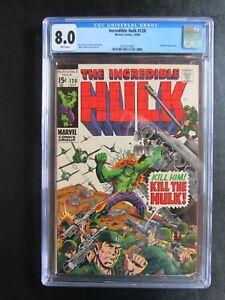 Incredible Hulk 120 8.0 CGC White Pages Kill the Hulk