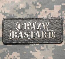 CRAZY BASTARD US MILITARY TACTICAL BADGE ACU LIGHT VELCRO® BRAND FASTENER PATCH